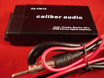 SA-15 dB Caliber 15db 12V Antenna Radio Signal booster Amplifier AM FM AUTO & RV