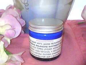 SKIN SO SILKY ANTI AGING VITAMIN C A HYALORONIC ACID PLANT OILS DAY/NIGHT CREAM