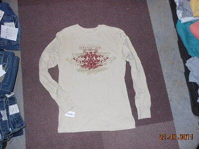 Aeropostale Logo Long Sleeved T Tee Shirt Cream M