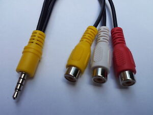 3.5mm Jack To 3 x RCA Female AV Cable