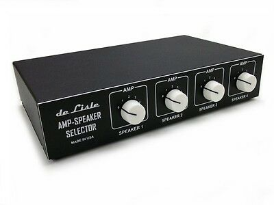 de Lisle Guitar Tube Amp Multi Speaker Cabinet Selector Switch Box Router Ver. 2 for sale  Shipping to India