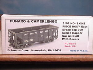 Funaro F&C HOn3  East Broad Top 800 series hopper, new one piece body,  5102