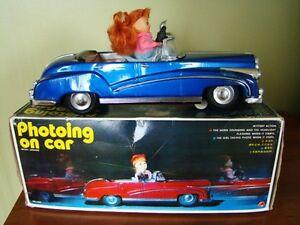 antique auto jouet toy car metal 1960 battery