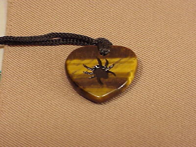 Carved Magnificent Gemstone Spider Stone Necklace Nek085