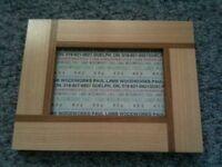 "Wooden Frame (4x6"")"