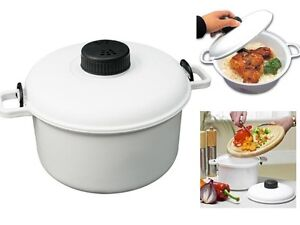 New Micro Microwave Pressure Cooker Steamer Vegetable Rice Pasta Cooking Pot Pan