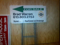 Open house/directional signs