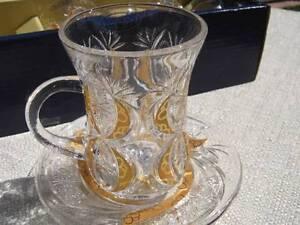 Turkish tea coffee glasses elegant set of 6 teacups for Alpine cuisine coffee cups