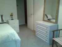 Large double room available in gated flat - Weybridge - Mon-Fri ONLY
