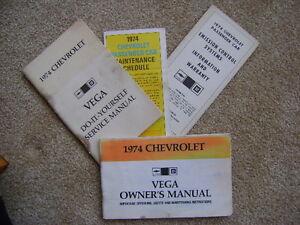 1974 Chevrolet Vega  Owners Manual and Service Manual