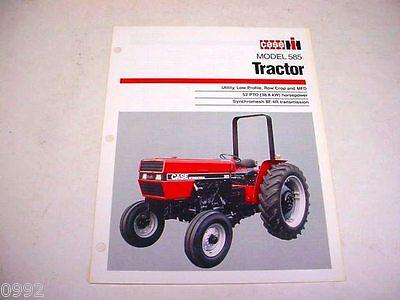 Case IH 585 Farm Tractor Sales Brochure !