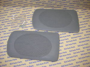 T251q2 Toyota Camry Rear Speaker Grille Tray Covers  GRAY Genuine OEM  2002-2006