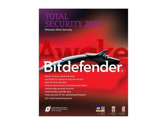 Bitdefender Total Security 2013 3PC 1YR Internet Security 3 PC Retail Free 2015