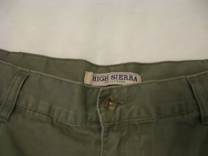 HIGH-SIERRA-SHORTS-32-L-K-Casual-Shorts-Cotton-Greens