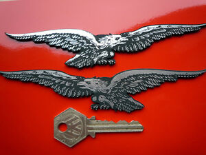 MOTO GUZZI EAGLES Laser cut self adhesive motorcycle / helmet panniers badges et