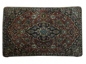 Persian Country 2x3 Pillow Handmade Kashan Rug