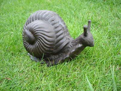 un grand escargot en fonte patinée brun, statue , nouveau !!!