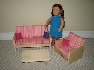 Handmade - Solid Wood Living Room Furniture Set - AG Dolls