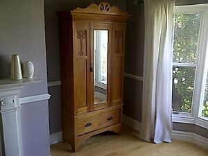 Antique Wardrobe/ Armoire - From England -Over 130 Yrs Old