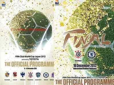 * 2012 FIFA CLUB WORLD CUP TOURNAMENT & FINAL PROGRAMME  CHELSEA v CORINTHIANS *
