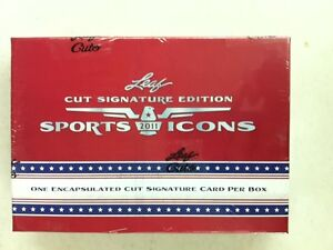 2011 Leaf Sports Icons Cut Signature (1/box) Edition Hobby Box Factory Sealed