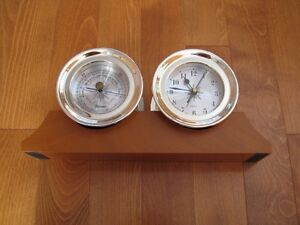 SHIPS CLOCK AND BAROMETER