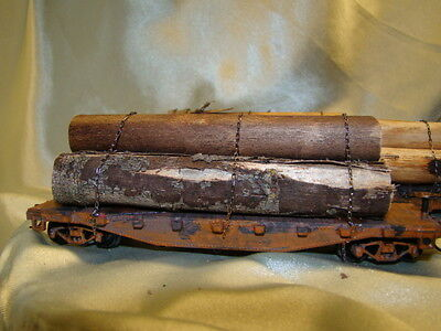 - 3- Super Homemade Logging Flat Car-- Handcrafted From Picture - Ho Lot--1 4