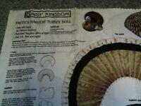 Stuffed Turkey Doll ~ Fabric & Instructions