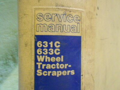 Caterpillar 631C 633C Wheel Tractor Scraper Service Manual Cat Book