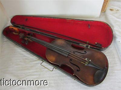 Vintage Andreas Amati Fecit Cremonae Anno 1631 Violin Bow & Case
