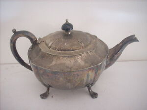 UNPOLISHED HECWORTH EPNS SILVER TEAPOT