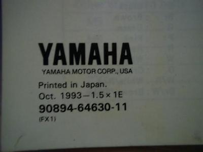 USED 94 Yamaha Marine Water Vehicles Service Guide