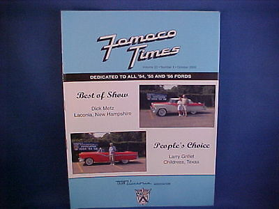 54,55,56 Ford Crown Victoria Association show results in CVA FoMoCo Times 10/00