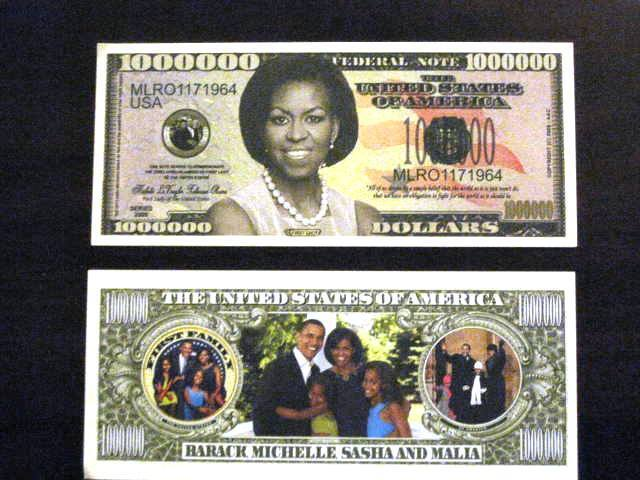 Beautiful Michelle Obama Dollar Perfect Gift Card Stuffer Fun Collectable Dollar