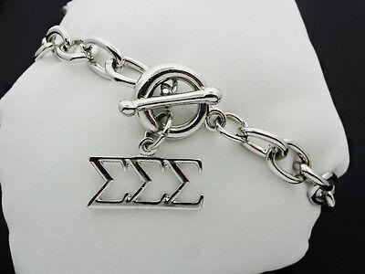 Tri Sigma Sigma Sigma Toggle Greek Sorority Bracelet Necklace Jewelry Fbr2246