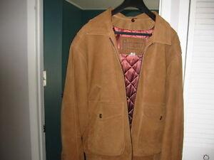 Genuine Suede Leather Winter Jacket Size 39 - 40
