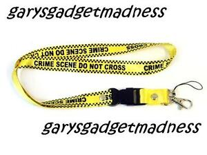 CRIME-SCENE-NECK-STRAP-LANYARD-FOR-PHONES-I-D-TAGS-MP3