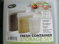 NEW set of 3 storage containers