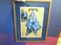 framed ORIGINAL WATERCOLOUR PAINTING signed Lil Gibson