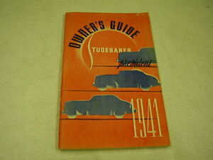 1941-STUDEBAKER-PRESIDENT-OWNERS-MANUAL-ORIGINAL