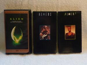 Alien trilogy (I, II, and III) on VHS