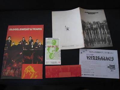 Blood Sweat & Tears 1971 Japan Tour Book Program w Ticket Promo Book by Sony BST