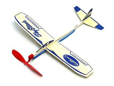 (24) Sky Streak Balsa Wood Air Plane Rubber Band Power Glider Guillows Model Kit