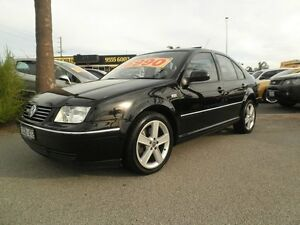 2001 Volkswagen Bora 1J MY2002 V5 Black Quartz 5 Speed Sports Automatic Sedan Heatherton Kingston Area Preview