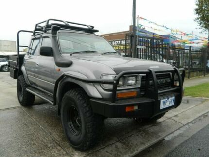 1990 Toyota Landcruiser GXL (4x4) Grey 5 Speed Manual 4x4 Wagon Williamstown North Hobsons Bay Area Preview