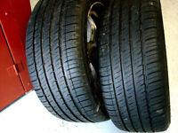 2 pneus d'été Michelin  245/50R17