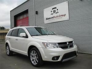 2014 DODGE JOURNEY R/T, AWD, LEATHER, HEATED & 7 SEATS, DVD
