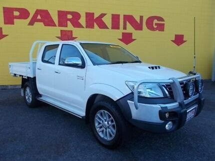 2014 Toyota Hilux KUN26R MY14 SR5 Double Cab White 5 Speed Automatic Utility Winnellie Darwin City Preview