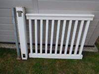 uPVC Deck / Patio Posts & Railings - Covers 30 feet - 8 Railings and 9 Posts
