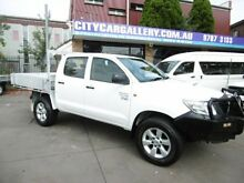 2011 Toyota Hilux KUN26R MY12 Workmate (4x4) White 5 Speed Manual Dual Cab Pick-up Yagoona Bankstown Area Preview